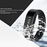 SMA Fitness Tracker, Bluetooth 4.0, Heart Rate sleep Monitor, Waterproof watch, Activity Wristband, Calories Track Step Track Smart Bracelet For iPhone & Android phones Black color Men/Women