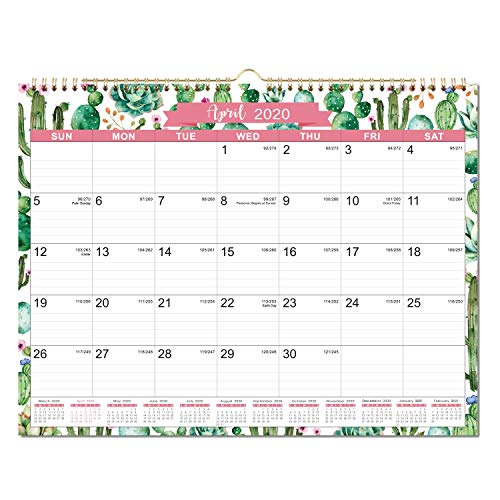 """2020 Calendar - 2020 Monthly Wall Calendar, 11.5"""" x 15"""", Two-Wire Binding, Ruled Blocks with Julian Dates, Perfect for Planning and Organizing for Home or Office"""