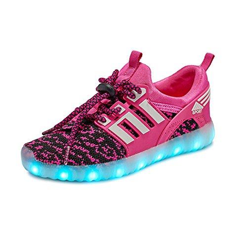 ブート丘モトリー発光シューズ スニーカー 男女通用 USB充電スニーカー ハイカット 光る靴 スポーツシューズ LEDシューズ 光るシューズ LED靴 レディース メンズ   ダンス