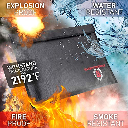 - Fireproof Document Bag 2192℉ Fire Resistant and Waterproof 15