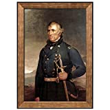"wall26 - Portrait of Zachary Taylor by Joseph Henry Bush (12th President of the United States) - American Presidents Series - Framed Art Print Ready to Hang - 16""x24"""