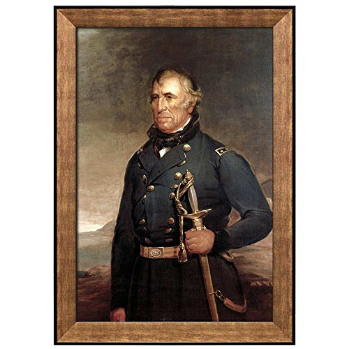 Portrait of Zachary Taylor by Joseph Henry Bush (12th President of the United States) American Presidents Series Framed Art Print