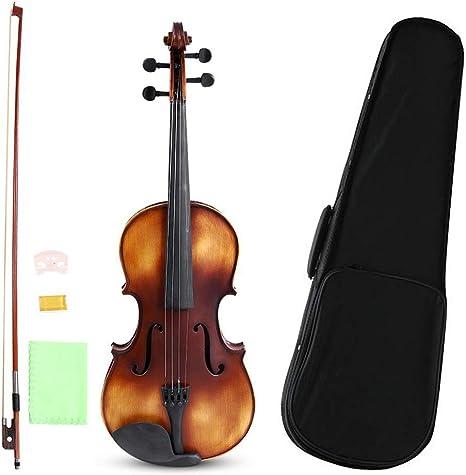 Viola 16 Pulgadas, Hecho a Mano Madera de Abeto Viola con Estuche Viola Fundas + Arco de Violas + Puente + Accesorio de Colofonia Para Principiantes: Amazon.es: Instrumentos musicales