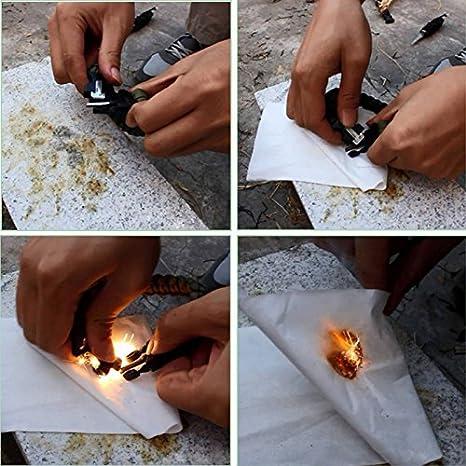 GFCGFGDRG M/änner Frauen Geflochtene /überleben Armband LED-Licht Paracord Armband Camping Rettungsseil Zahnradsatz mit Pfeife-Kompass-Feuer-Starter