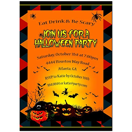 Scary Pumpkins Halloween Party - Party Invitations Scary Halloween
