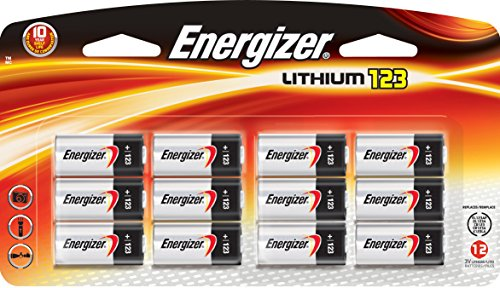 Energizer 123 Lithium Battery 12 Count