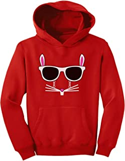 Tstars - Easter Bunny - Rabbit Face with Glasses Youth Hoodie