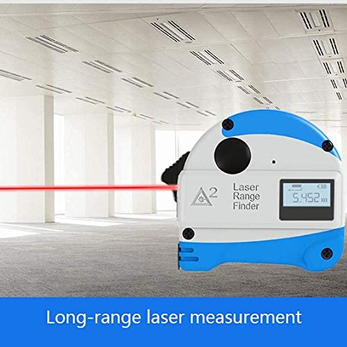 1yess 5M Steel Tape Measure Handheld Charging Range Finder High Precision Measurement Room Woodworking Ruler Electronic Ruler Box Ruler