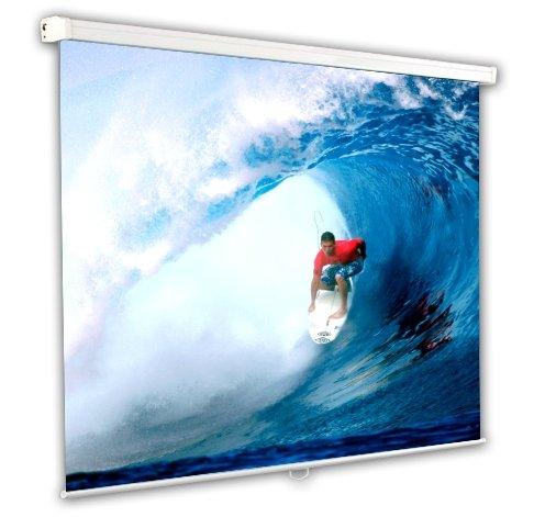 Schermo Proiezione manuale a molla 244x244cm, Telo da Videoproiettore Avvolgibile 244 x 244cm Classic ottimo per ogni Proiettore 100% Professionale di Qualità Superiore HD! PROVIS S20205