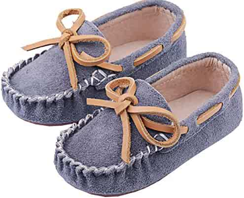 7155247ee24 AGOWOO Toddler Little Kid Boys Girls Slip On Loafers Moccasins Shoes