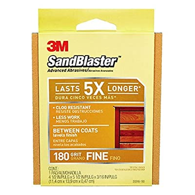 3M 20916-180 Sand Blaster Between Coats Sanding Pad, 180-Grit, Sleeved