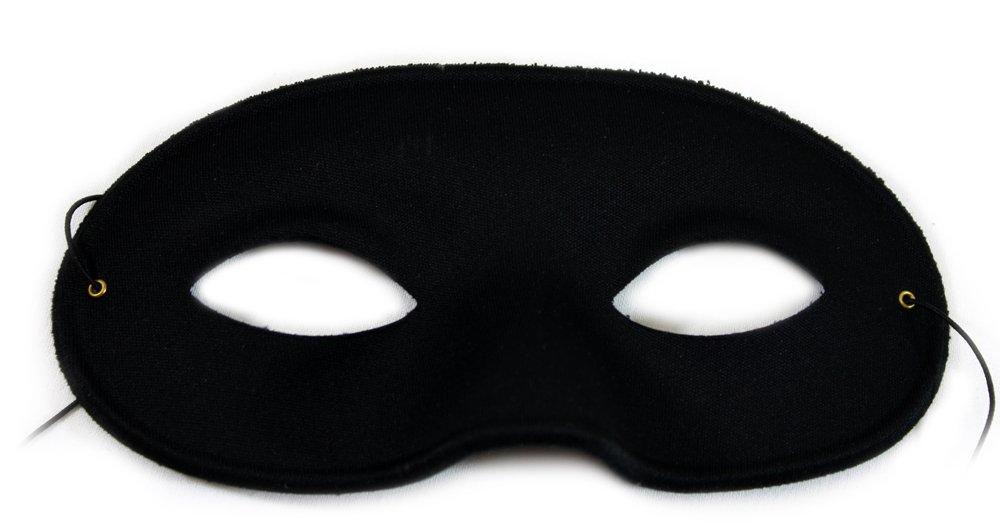 Domino matt schwarz Unisex Masquerade Maske (6 Masken)