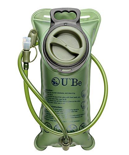 Price comparison product image U'Be Hydration Bladder - 70 oz (2L) BPA free Water Pack for Running Hiking Cycling with Insulated Tube and Shutoff Valve
