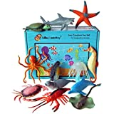 Lello & Monkey Sea Creature Toy Animal Figures - set of 12 boxed