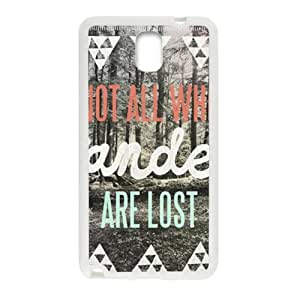 Happy Wesley Bird Not All Who Wander Are Lost Cell Phone Case for Samsung Galaxy Note3