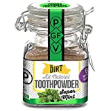 The Dirt All Natural Super Mint Trace Mineral Tooth Brushing Powder - 6 month supply, 51g