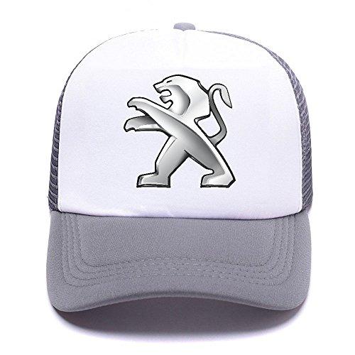 Pegt Car Logo BNUD48 Trucker Hat Baseball Caps Gorras de Béisbol for Men Women Boy Girl Gray