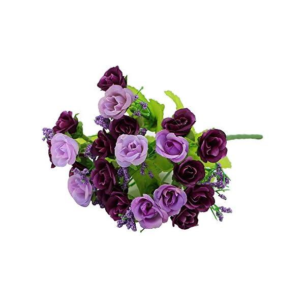 1-Bouquet-21-Head-9-Artifical-Fake-Rose-Wedding-Party-Home-Decor-Silk-Flower-Purple