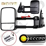 ECCPP Power Towing mirrors For 1997 1998 1999 Ford F150 F250 Standard & Extended Cab (Not for 4 Doors Crew Cab Models) Telescoping Passenger and Driver Side Tow Mirrors Pair