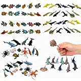 Fun Central (BC832) Sea Animal Figure Party Pack Assorted Pack of 4 Dozens– 12 Pieces Shark Toys, 12 Pieces Ocean Sea Animals, 12 Pieces Whale and Shark Toy Figures and 12 Pieces Tropical Fishes