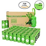 PET N PET 48 Rolls/720 Counts Environmental Friendly Dog Poop Bags Unscented with One Dispenser