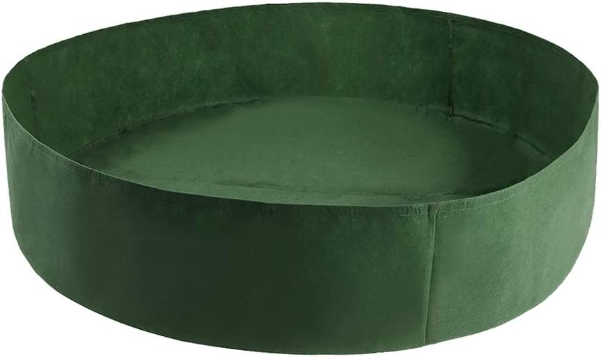 Mrs Bad 15/50/100 Gallon Plant Grow Bags Felt Fabric Flower Planter Containers Flower Pot Garden Accessories for Tomato Potato Strawberry
