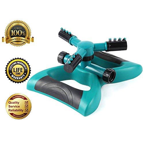 Leafgreen Lawn Sprinkler, 360 Rotating Adjustable Garden Sprinkler with 3600 SQ FT Coverage Premium Quality Lawn Irrigation System