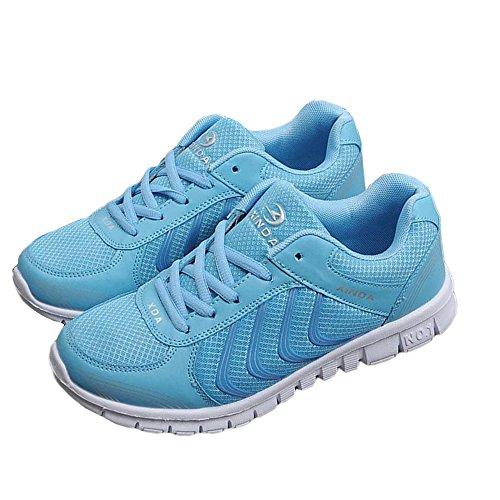 Schuhe Blau Damen Laufschuhe Aelegant Sneaker Sportschuhe Turnschuhe Atmungsaktive Mesh Leicht Schnür Hqdw0Cgv