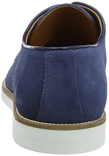 Hackett London Piped Paterson Suede, Zapatos Derby para Hombre Azul