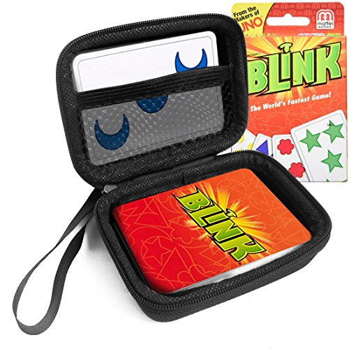Game Worlds Fastest (FitSand TM Travel Zipper Carry EVA Hard Case for UNO Reinhards Staupe's BLINK Card Game The World's Fastest Game - Black Box, Blacker Box, Best Protection for UNO BLINK Cards)