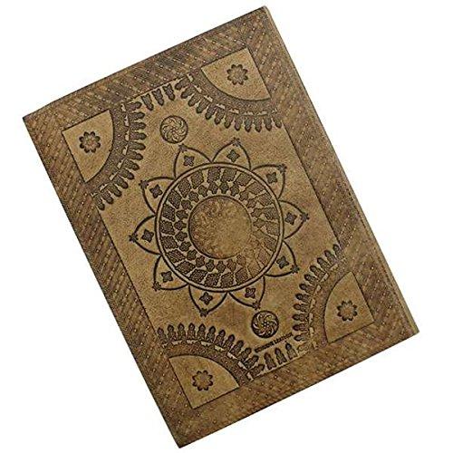 - MedievalDepot Sacred Lotus Flower Embossed Leather Journal