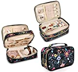 Travel Jewelry Organizer Case,Storage Bag Holder for Earrings,Necklace,Rings,Watch - Girl Portable Jewelry Case