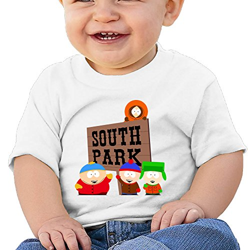 Price comparison product image Boss-Seller South Park Short Sleeve T Shirts For 6-24 Months Infant Size 18 Months White