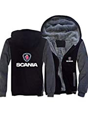 Men's Hoodie Winter Workout Jackets for Scania Print Casual Baseball Jersey Spring Hooded Sweater Sportswear Coat Zip Warm Thick Coats