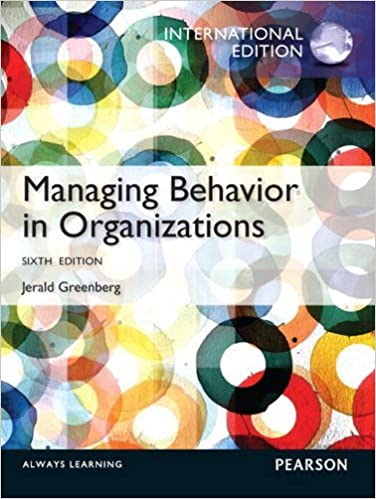 Book Managing Behavior in Organizations by Jerald Greenberg (2012-08-01)