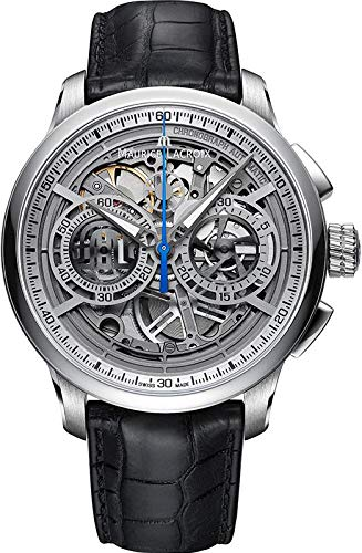 Maurice Lacroix Masterpiece Skeleton Automatic Watch, Chronograph, ML206, Silver -