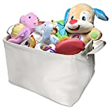 easter basket covers - Premium Cotton Canvas Collapsible Child Toy Storage Container Baby Clothes Hamper Nursery Laundry Basket - Perfect for Closet, Garage and Basement Storage