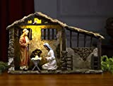 Christmas Nativity Lighted Stable (10 Inch)