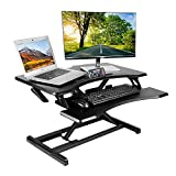 Kranich Standing Desk Converter Height Adjustable Sit to Stand Desk Dual Monitor Desktop Riser