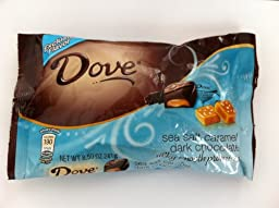 Dove Silky Smooth Sea Salt Caramel Dark Chocolate 8.5oz (pack of 4 Bags)