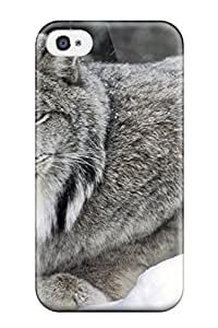 New Style 8217650K42859932 New Canadian Lynx Skin Case Cover Shatterproof Case For Iphone 4/4s