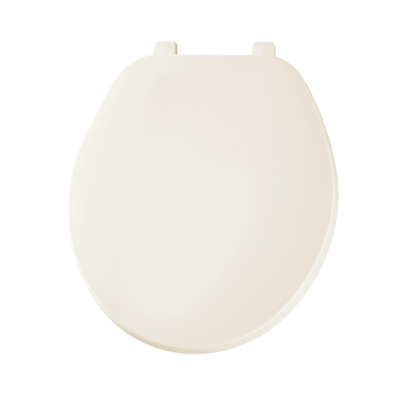 Bemis 70006 Economy Plastic Round Toilet Seat, Bone