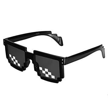 TENGGO Gafas Retro Freestyle Thug Life Pixel Gafas De Moda ...