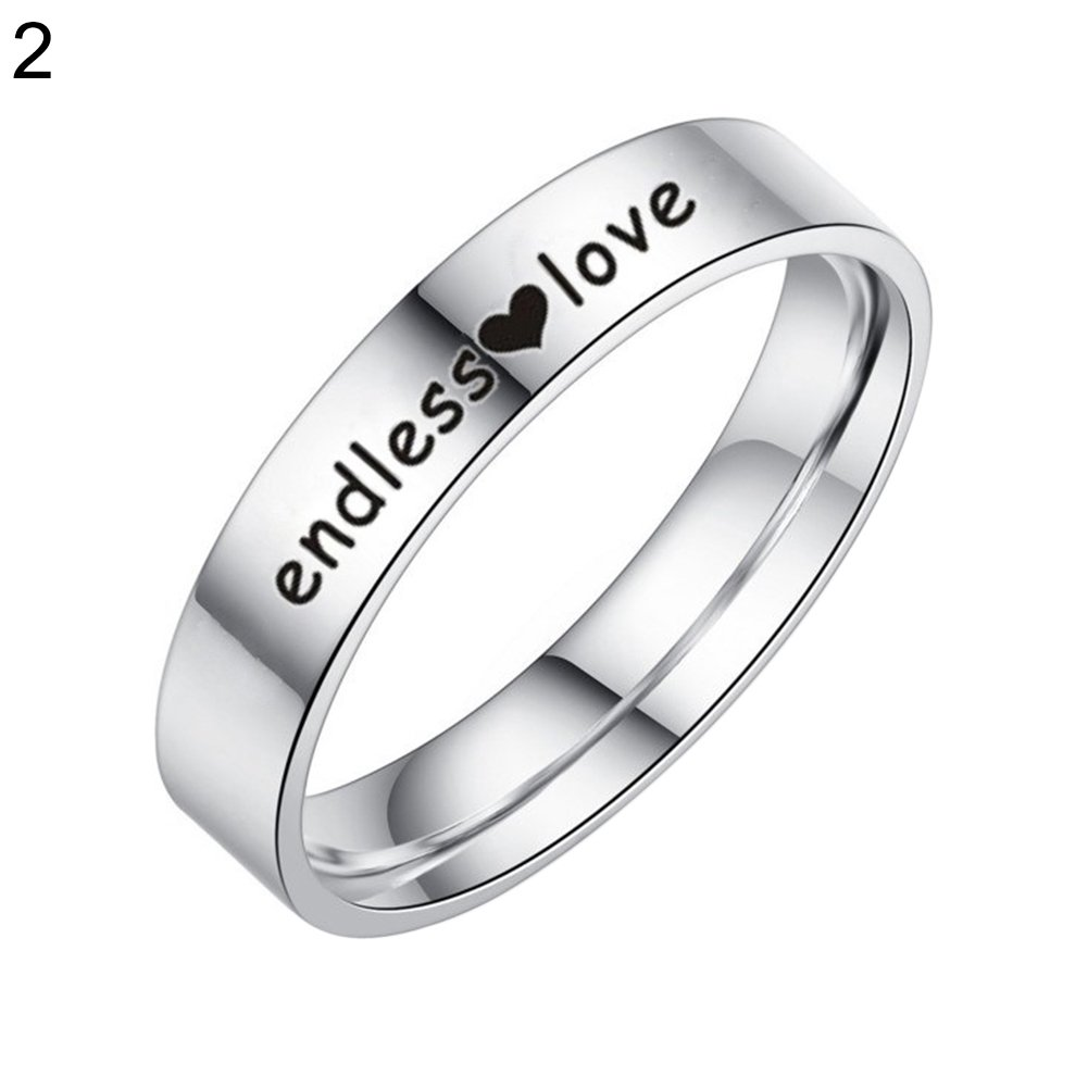 super1798 Endless Love Heart Finger Ring Fashion Couple Promise Jewelry - 6 Women's