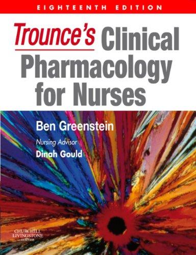 Trounce's Clinical Pharmacology for Nurses Pdf