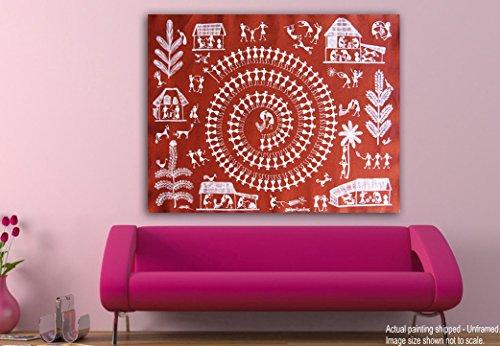 Tamatina Canvas Paintings - Celebrations - Warli Art - Tribal Art ...