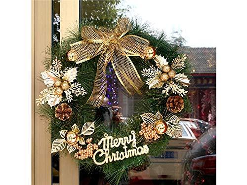 Gelaiken World Christmas Christmas Garland Door Hanging Ornaments Room Christmas Tree Pendants for Decoration(Golden)