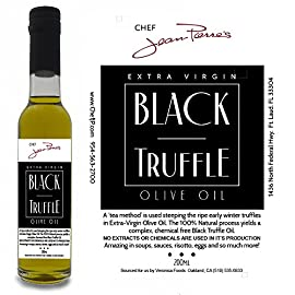 Black Truffle Oil SUPER CONCENTRATED 200ml (7oz) 100% Natural NO ARTIFICIAL ANYTHING 73 A 'tea method' is utilized to steeps the ripe truffles for extended periods of time in olive oil. Real shaved truffle are infused with the first pressing of Olive only a few hours of harvest Big Truffle flavor, not chemically produced like most truffle oil on the market