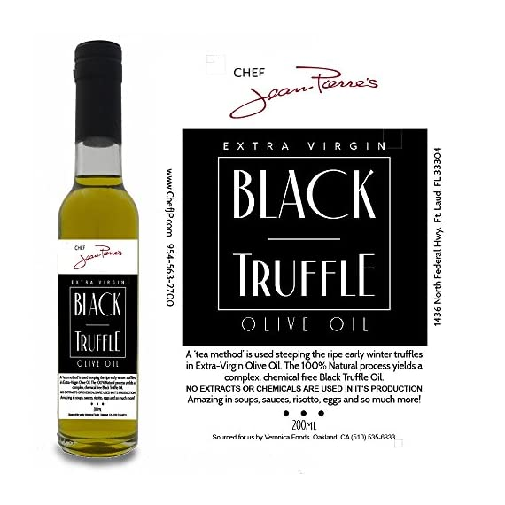 Black Truffle Oil SUPER CONCENTRATED 200ml (7oz) 100% Natural NO ARTIFICIAL ANYTHING 1 A 'tea method' is utilized to steeps the ripe truffles for extended periods of time in olive oil. Real shaved truffle are infused with the first pressing of Olive only a few hours of harvest Big Truffle flavor, not chemically produced like most truffle oil on the market
