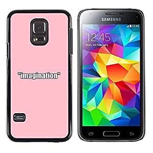 CASEMAX Slim Hard Case Cover Armor Shell FOR Samsung Galaxy S5 Mini, SM-G800- PINK IMAGINATION
